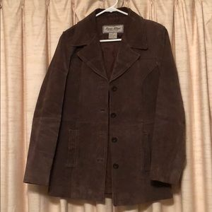 Vintage suede Paris Blues coat, M